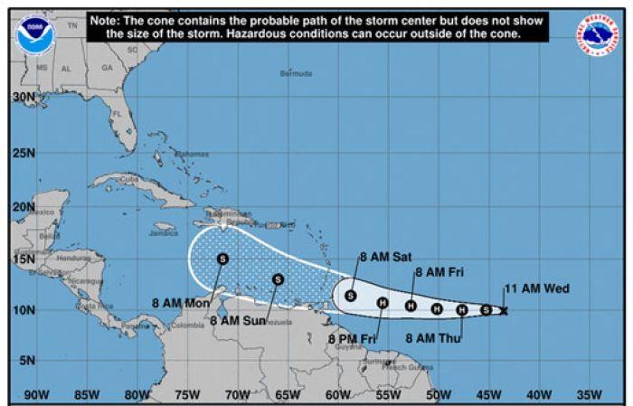 <p>Tormenta tropical Gonzalo se convertir&aacute; en hurac&aacute;n este jueves</p>