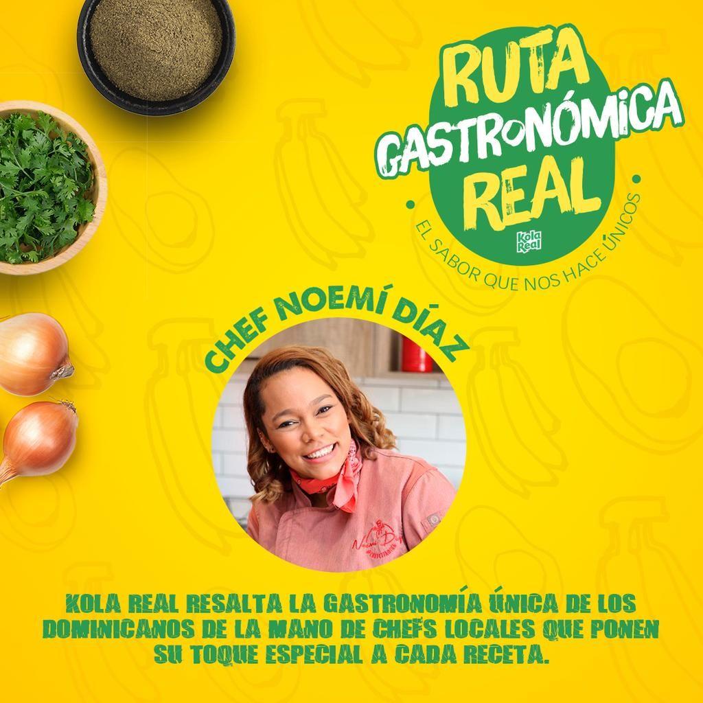 <p>Kola Real resalta la cocina dominicana con nueva versi&oacute;n de la Ruta Gastron&oacute;mica Digital</p>
