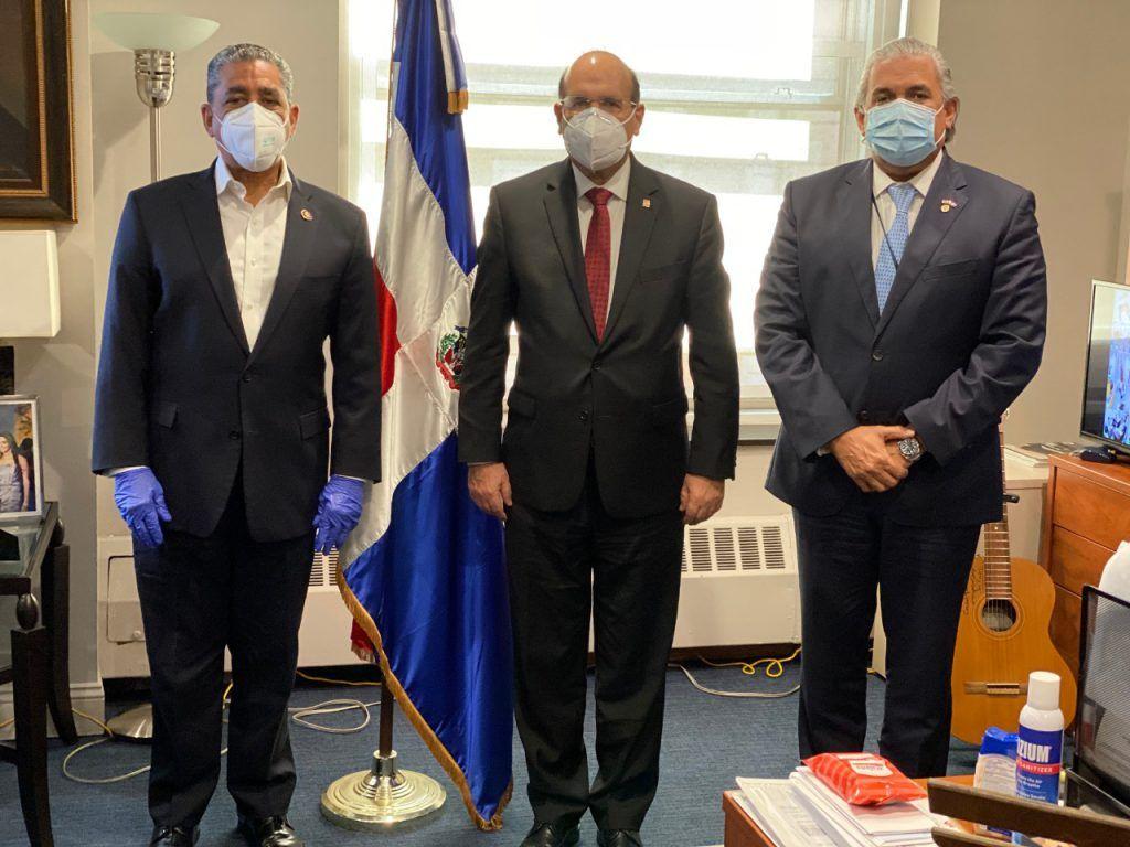 <h1>JCE sostiene encuentro con Congresista y C&oacute;nsul Dominicano en Nueva York para montaje de las elecciones en el exterior</h1>
