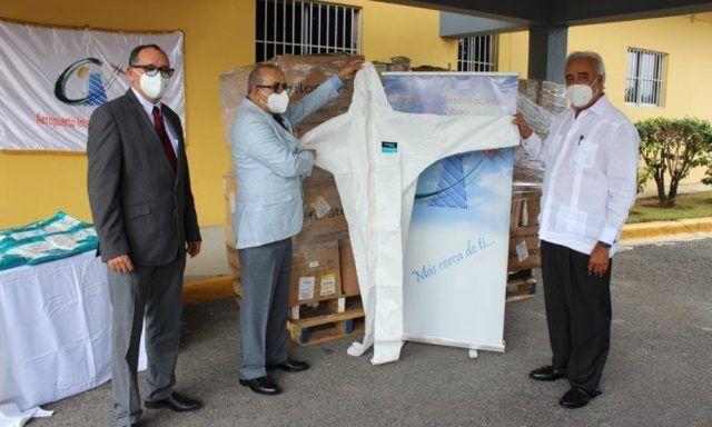 <p>El AIC entrega 16,000 trajes de protecci&oacute;n a Salud Publica</p>