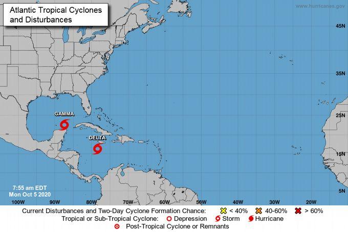 <p>Se forma la tormenta Delta en el Caribe y amenaza al oeste de Cuba</p>