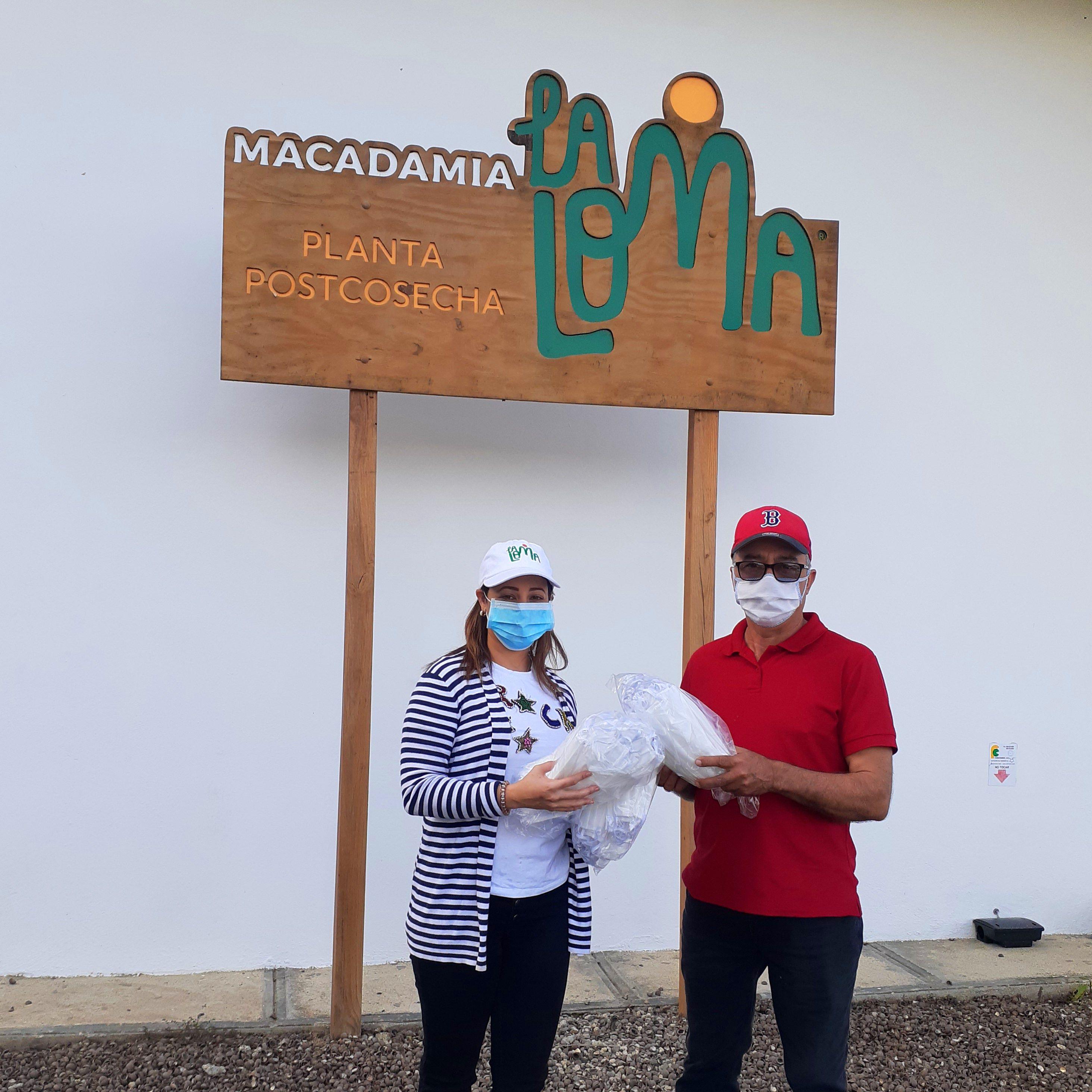 Macadamia La Loma dona mascarillas  a comunidades y productores de La Sierra