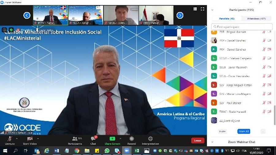 <p>En cumbre de OCDE, Ministro Toca Sim&oacute; favorece buscar formas para movilizar la econom&iacute;a en tiempos de coronavirus</p>