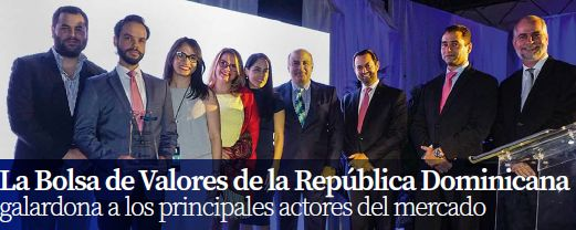 La Bolsa de Valores de la República Dominicana galardona a los principales actores del mercado
