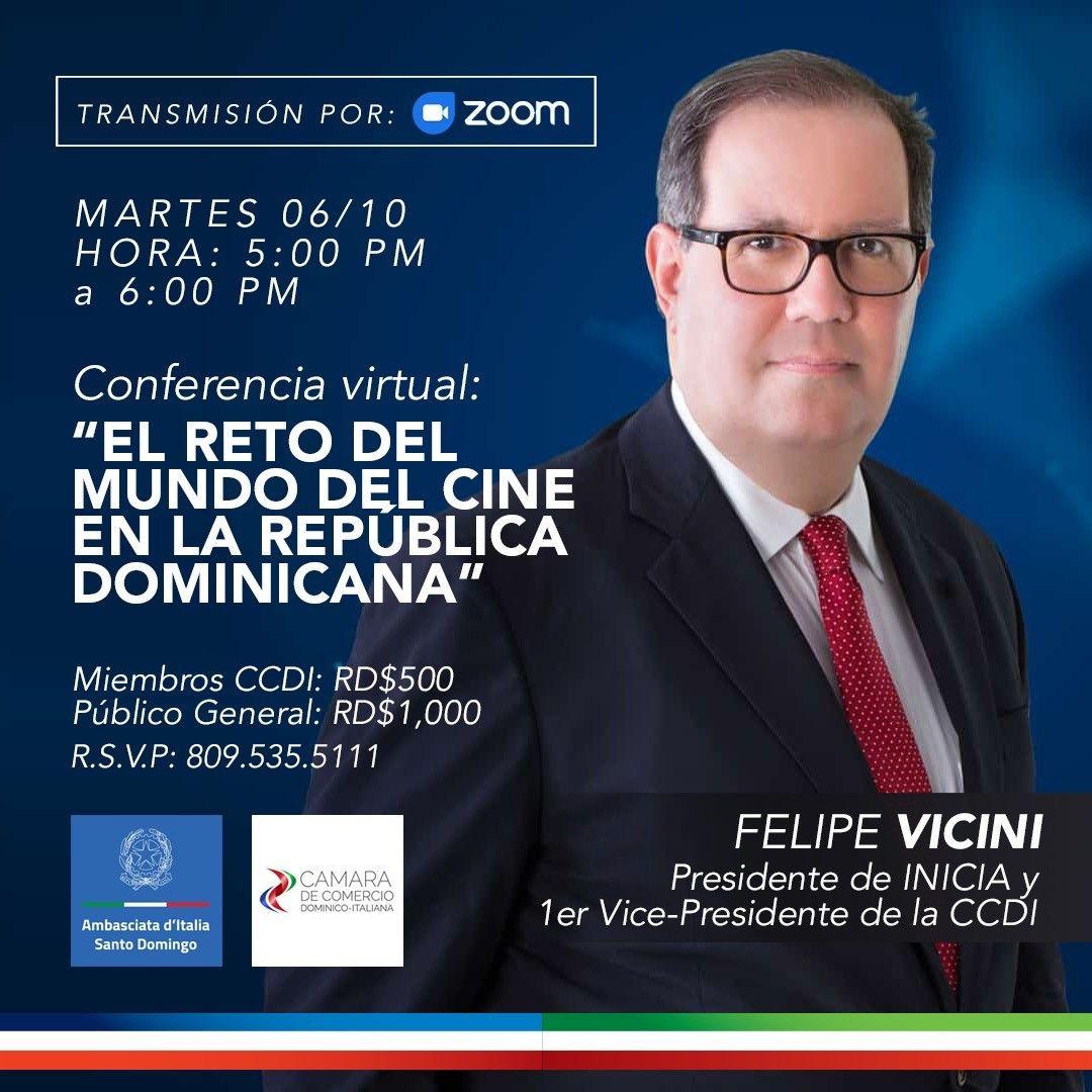 <p><strong>Felipe Vicini ofrecer&aacute; conferencia en C&aacute;mara de Comercio Dominico-Italiana</strong></p>