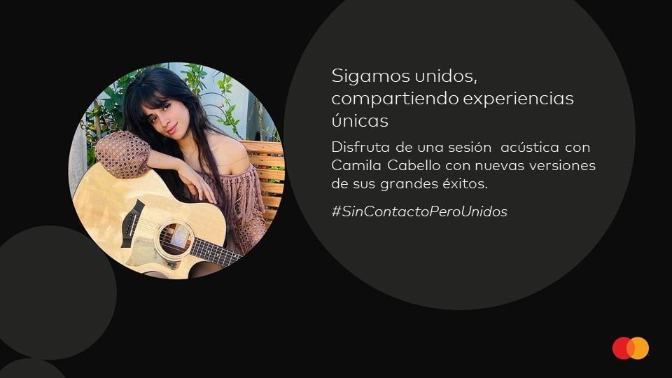 Camila Cabello se integra a la colección de experiencias digitales de Mastercard e interpretará material completamente nuevo