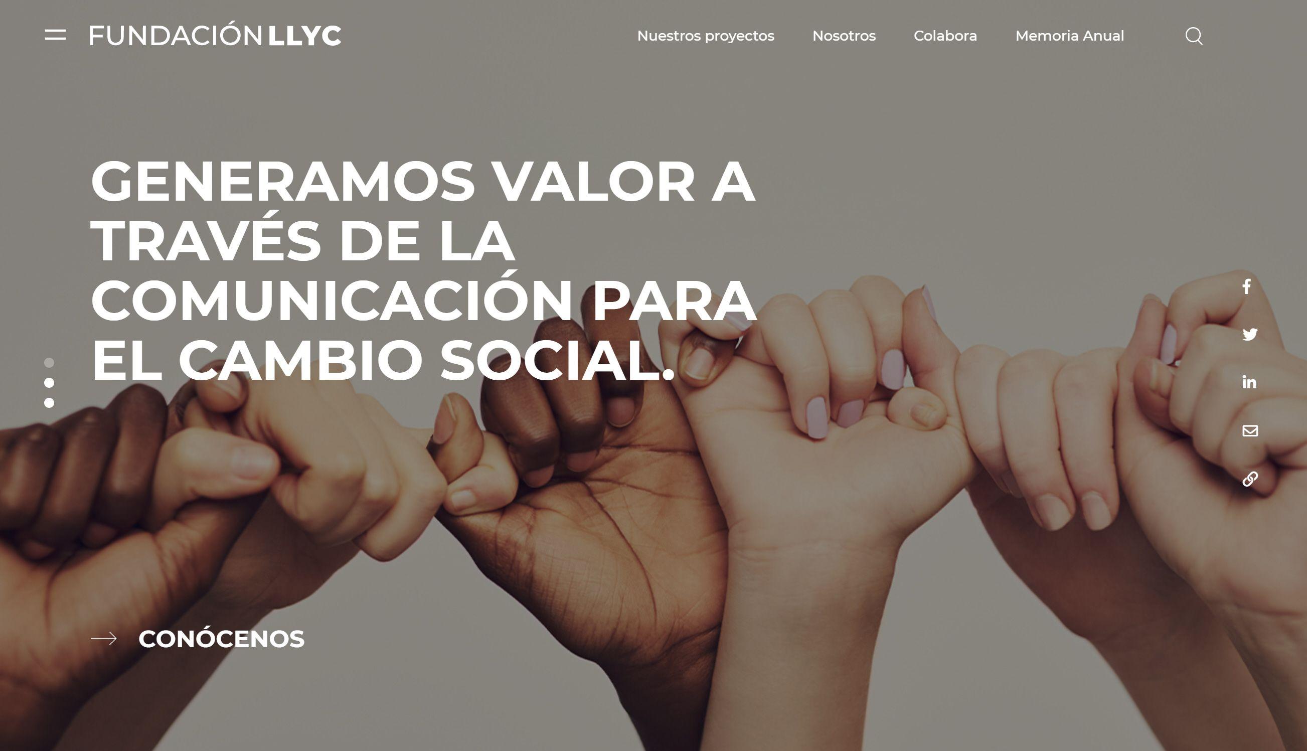 <p><strong>Fundaci&oacute;n LLYC lanza su nueva web y presenta su memoria anual</strong></p>