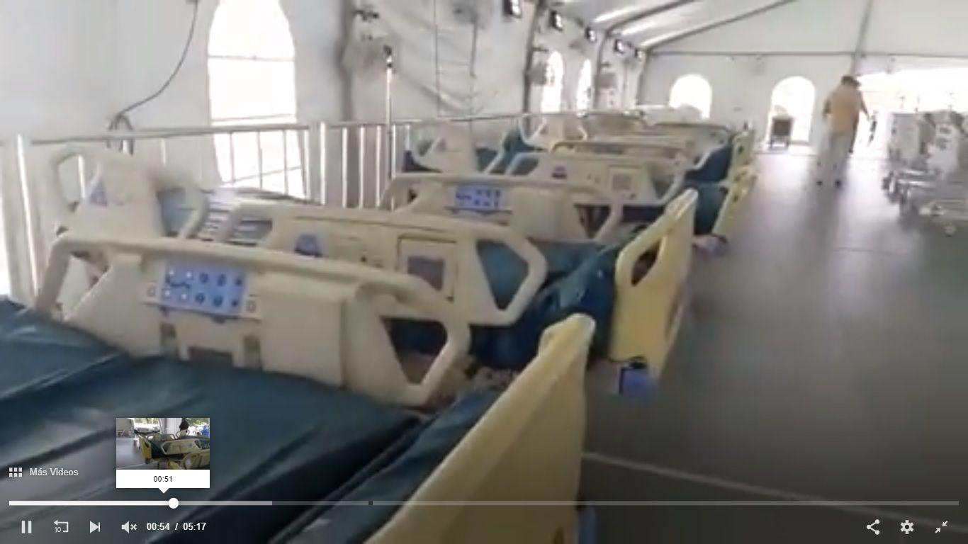 Luis Abinader entrega hospital temporal en La Vega