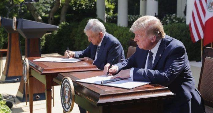 <p>EU, M&eacute;xico y Canad&aacute; formalizan acuerdo comercial T-MEC</p>