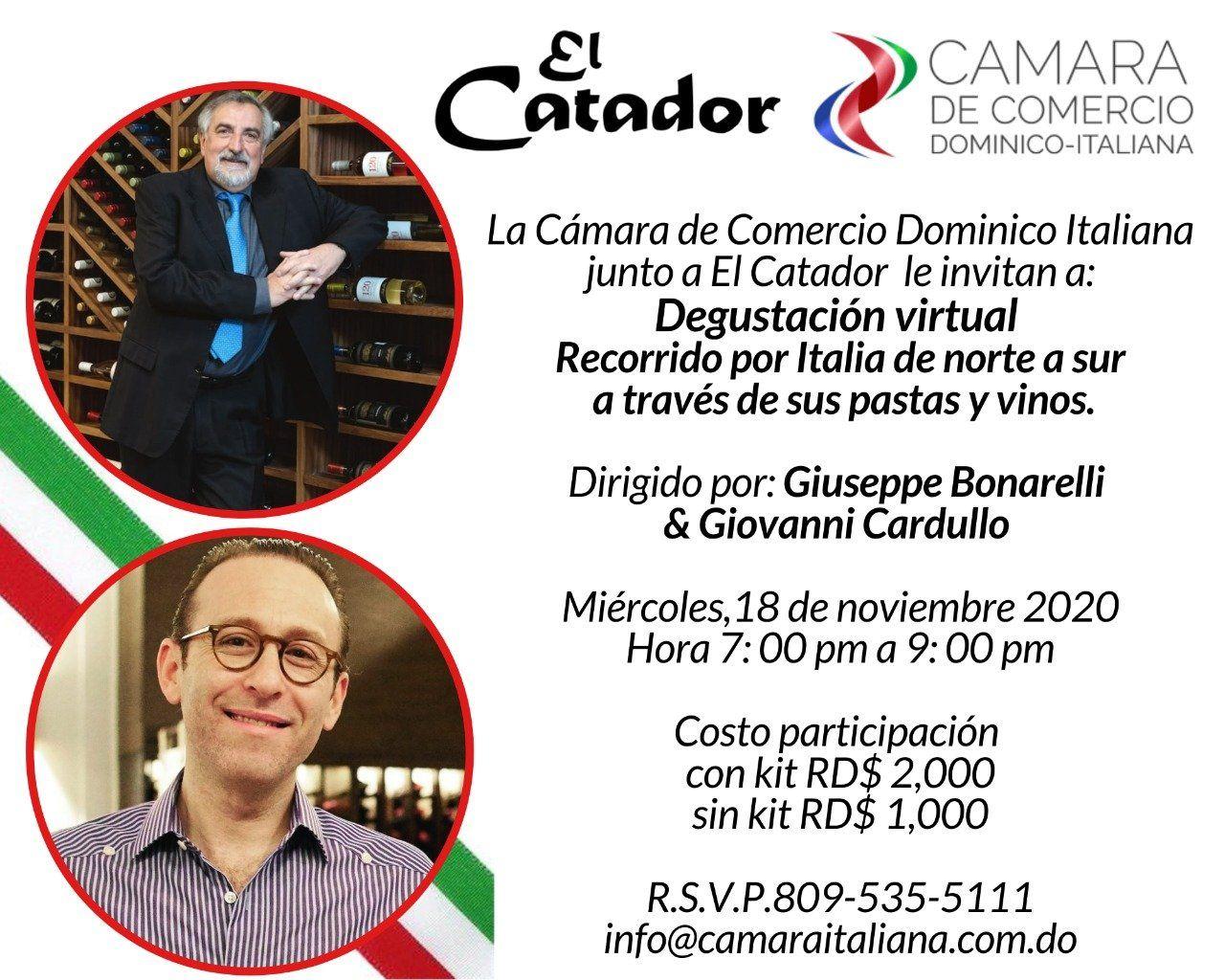<p><strong>C&aacute;mara de Comercio Dominico-Italiana, junto a El Catador, promueve la semana de la cocina italiana</strong></p>