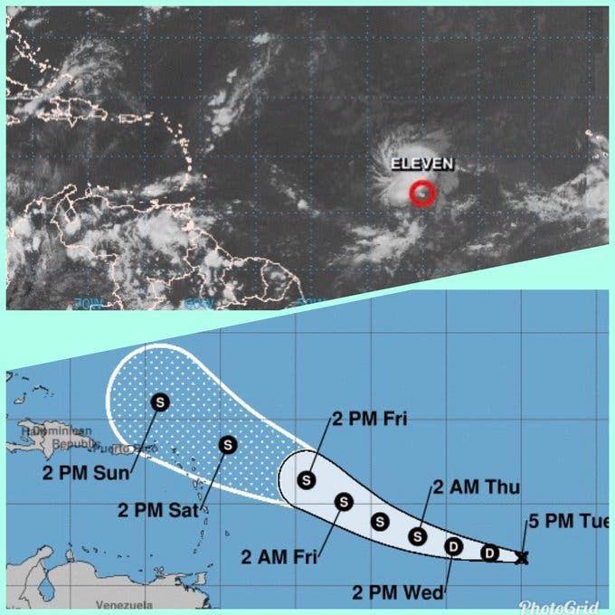 <p>Depresi&oacute;n tropical n&uacute;mero 11 est&aacute; cerca de convertirse en tormenta</p>