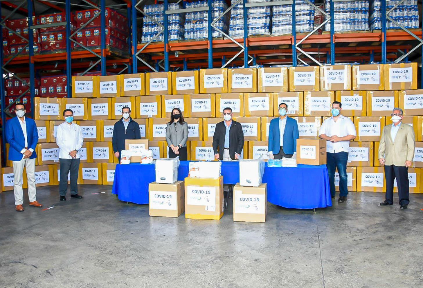 CONEP realiza tercera entrega de pruebas, máquinas diagnósticas y más de 500 mil EPP para COVID