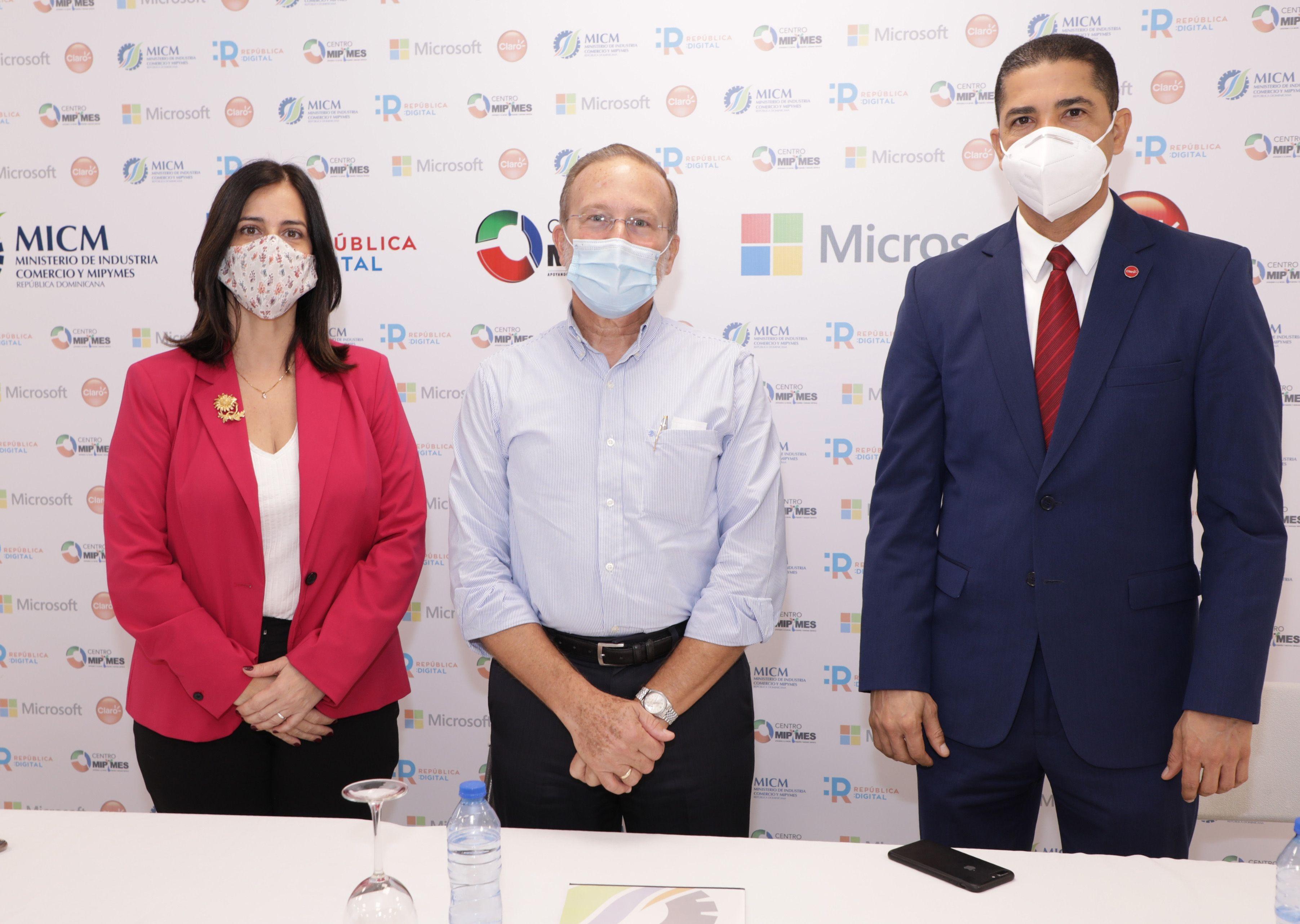 MICM, Claro y Microsoft se unen para impulsar digitalización de mipymes